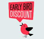 early bird discount green